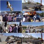 بازدید  اعضای شورای شورای اسلامی شهر وکچویی شهردار رودهن از روند اجرای پل کابلی نمیر