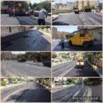 عملیات آسفالت خیابان چمران