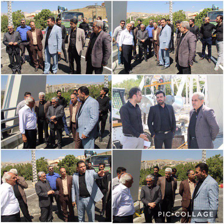 بازدید از پل کابلی روگذر جاده فیروزکوه