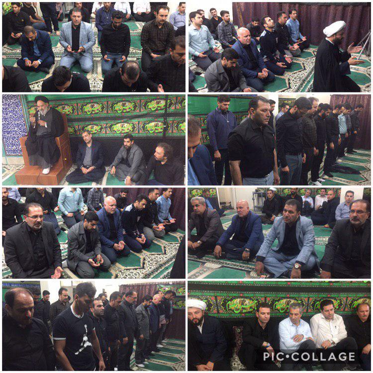 برگزاری مراسم عزاداری سرور و سالار شهیدان در نماز خانه شهرداری رودهن