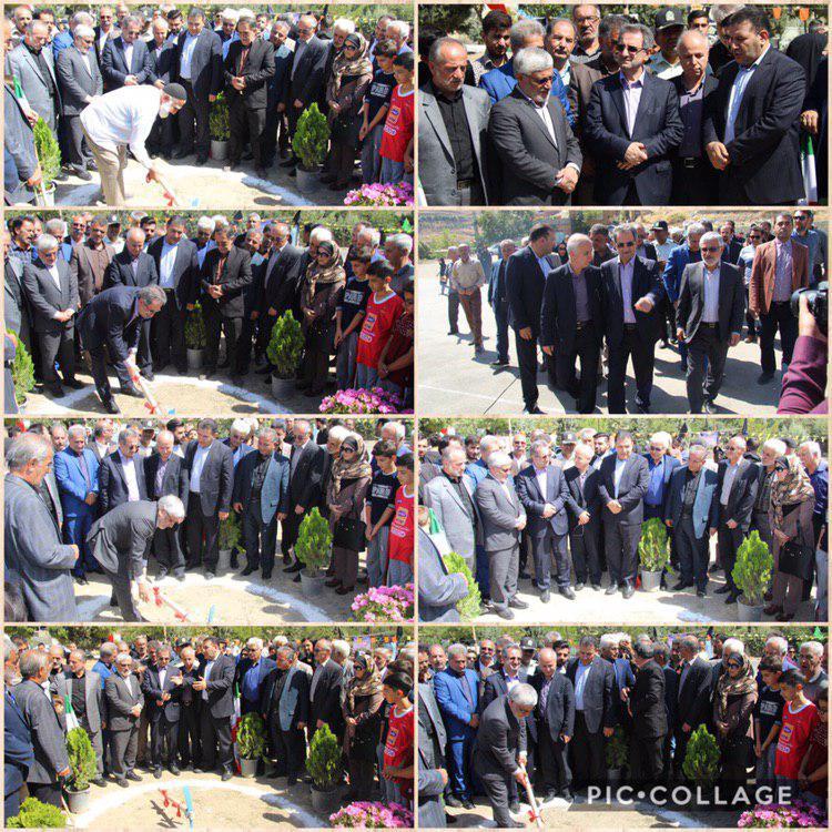کلنگ زنی احداث سالن ورزشی کریتون با حضور استاندار تهران