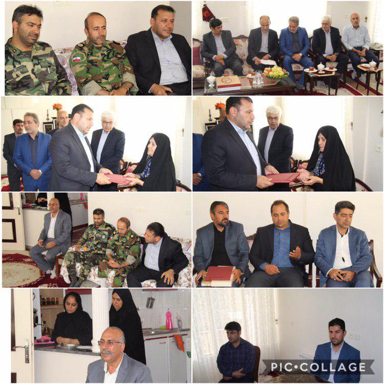 دیدار با خانواده شهید نادر همتی به مناسبت هفته دفاع مقدس