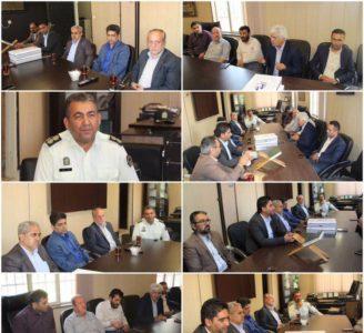 دیدار اعضای شورای اسلامی شهر و سرپرست شهرداری با جناب سرهنگ بیگی به مناسبت هفته نیروی انتظامی