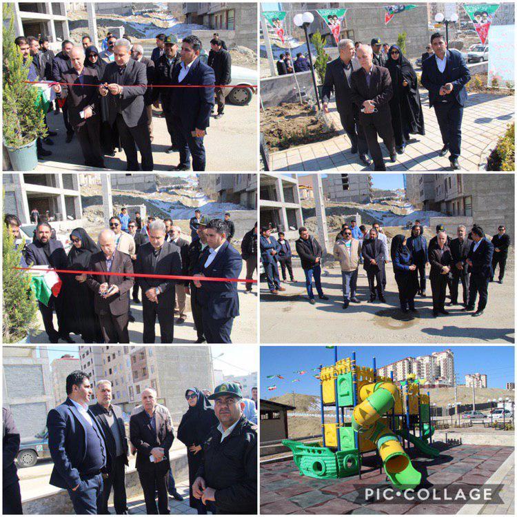 افتتاح پارک بازی و بوستان در شهرک پونا