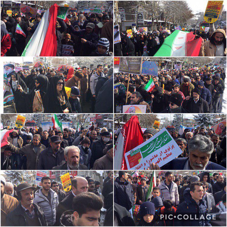 راهپیمایی باشکوه ۲۲ بهمن در رودهن برگزار شد