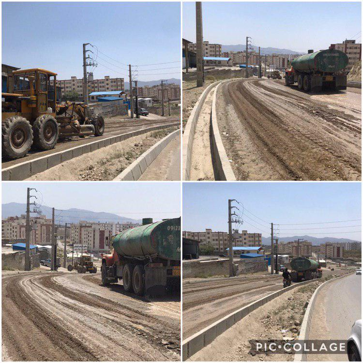 زیر سازی و آسفالت مسکن مهر توسط شهرداری رودهن