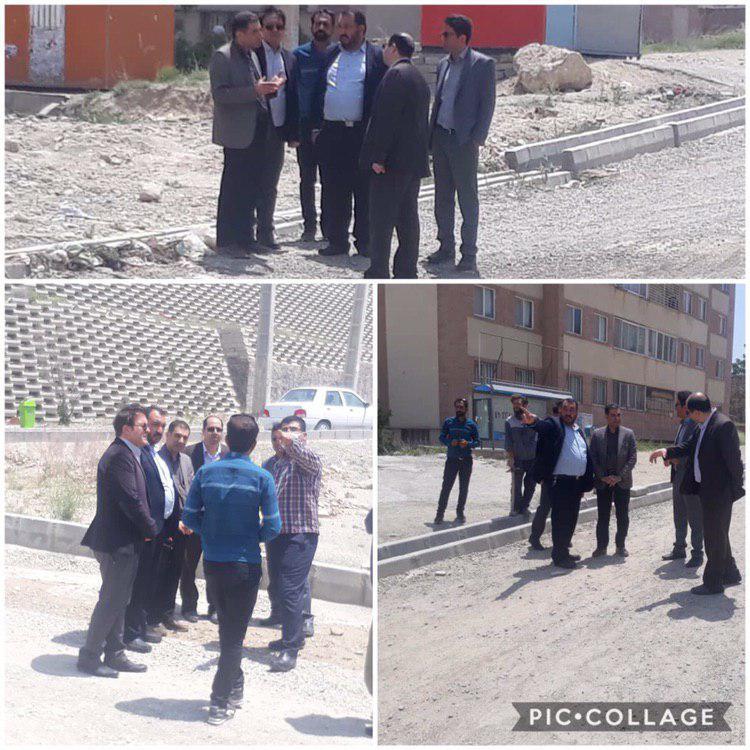 بازدید  از اجرای پروژه مسکن مهر رودهن