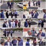 بازديد اعضاي شوراي اسلامي شهر و شهردار رودهن از روند اجراي عمليات لكه گيري و آسفالت معابر سطح شهر