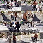 بازدید محمود همتی از اجرای عملیات لکه گیری