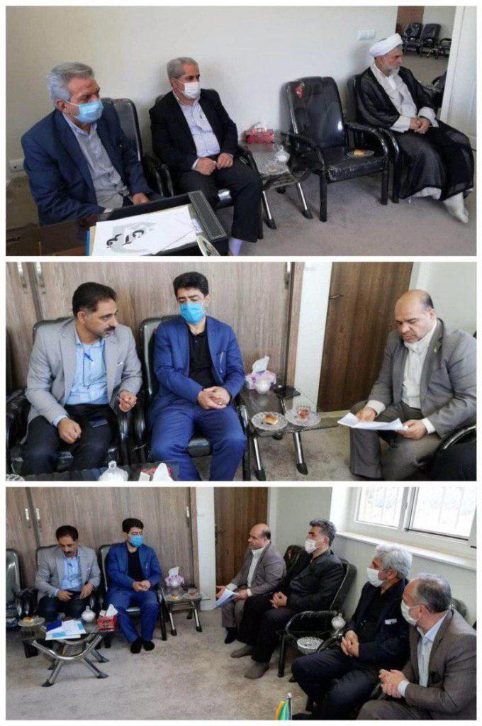 دیدار شهردار و اعضای شورا با امام جمعه رودهن در خصوص احداث فرهنگسرای فدک