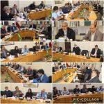 برگزاری جلسه اعضای شورای اسلامی شهر و شهردار رودهن با مدیر امور آب و فاضلاب رودهن