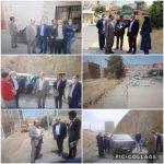 بازدید میدانی عاشقی رئیس شورای اسلامی و امیری شهردار رودهن از سطح شهر رودهن