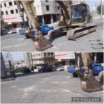متوقف کردن دستگاه بیل مکانیکی توسط واحد عمران و پلیس ساختمان