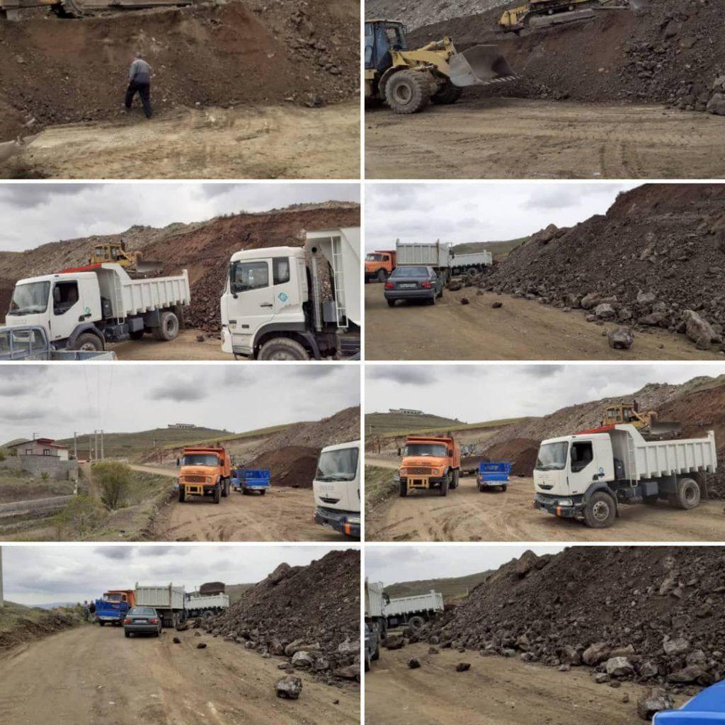 عملیات بهسازی ، تسطیح و تعریض جاده تجرک رودهن