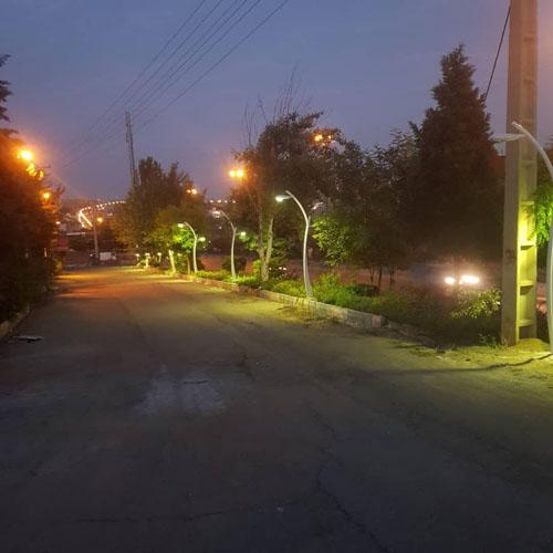 نورپردازی بلوار اصلی توسط شهرداری رودهن