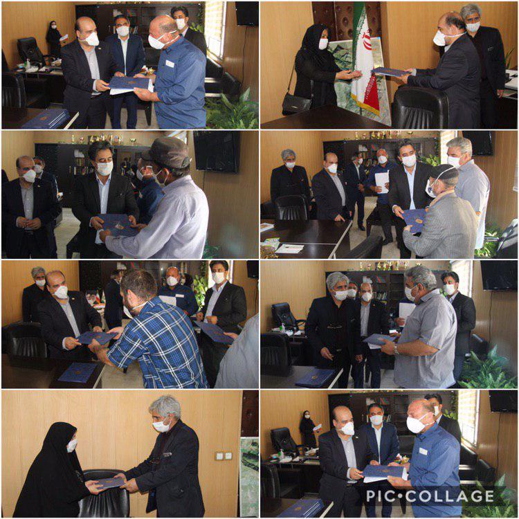 تقدیر از کارگران آرامستان توسط شهردار و خسروی عضو شورای اسلامی شهر رودهن