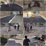 اجرای عملیات لکه گیری و آسفالت خیابان بهشتی شهر رودهن