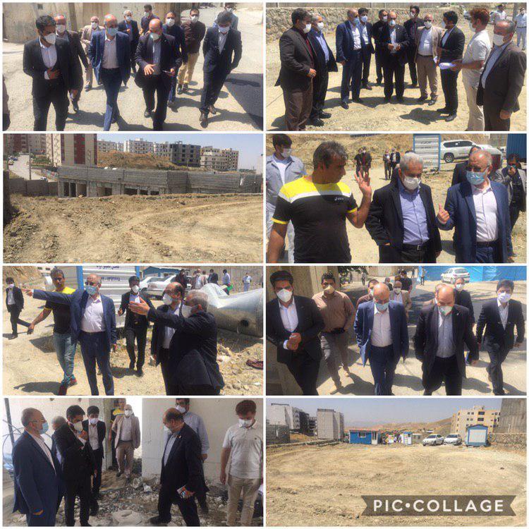 بازدید نماینده مردم دماوند و فیروزکوه در مجلس از پروژه های عمرانی شهر رودهن