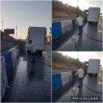 عملیات شستشوی جداول ورودی شهر رودهن