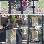 نصب پرچم های مذهبی و تبریک عید سعید غدیر خم