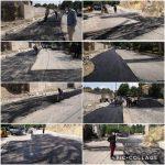 اجرای عملیات لکه گیری و آسفالت خیابان مدرس توسط واحد عمران شهرداری رودهن