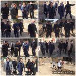 بازدید رئیس شورا و شهردار  از روند اجرای زیر سازی و جدول گذاری شهرک سادات محله