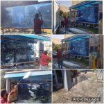 عملیات شستشوی ایستگاههای تاکسی سطح شهر رودهن