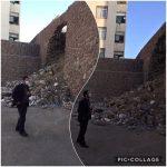 بازدید سرپرست شهرداری رودهن از ریزش دیوار در مسکن مهر