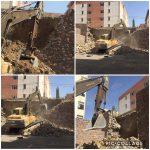 عملیات ایمن سازی دیوار حائل در مسکن مهر