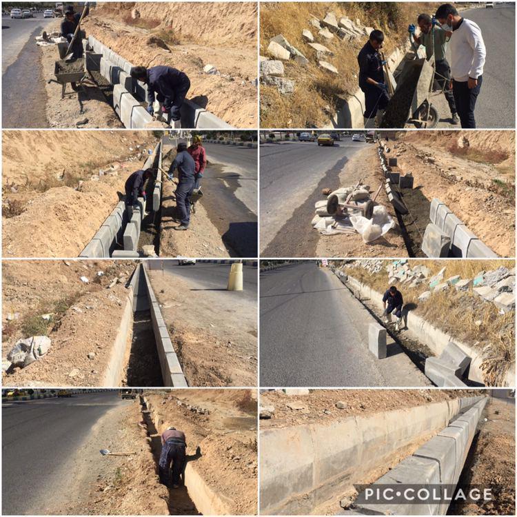 عملیات اصلاح و ترمیم جداول خیابان امام خمینی (ره)
