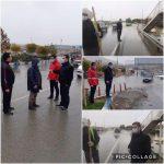 بازدید بابایی سرپرست شهرداری رودهن از آبگرفتگی ورودی شهر رودهن از سمت مجتمع دانشگاه