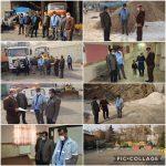 بررسی وضعیت تجهیزات اسکان اضطراری و ماشین آلات برفروبی شهرداری رودهن