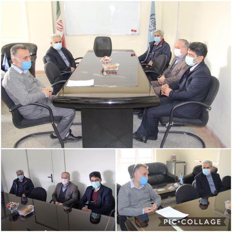 ديدار اعضاي شوراي اسلامي شهر رودهن با جليلي رئيس شعبه تأمين اجتماعي رودهن