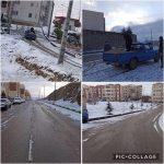 پاكسازي و نمك پاشي خيابان ها و معابر مسكن مهر رودهن توسط واحد خدمات شهري شهرداري رودهن