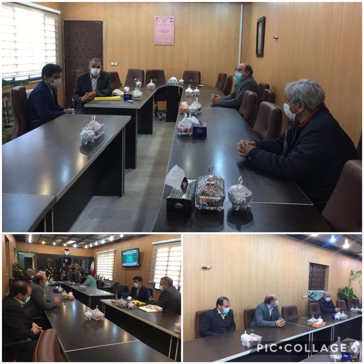 دیدار رییس بانک ملی با حنیفی شهردار