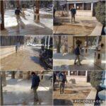 ضد عفونی و گند زدایی آرامستان و معابر شهر رودهن