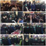 مراسم استقبال و وداع با #شهید_گمنام ۲۲ ساله هشت سال دفاع مقدس در مسجد #انصارالحسین (ع) شهر #رودهن