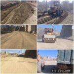 عملیات زیرسازی و تسطیح خیابان