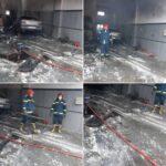 آتش سوزی  مکانیکی در مهرآباد