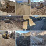 آماده سازی ، زیر سازی و تسطیح خیابان دکتر حسابی پنجم  توسط واحد عمران شهرداری