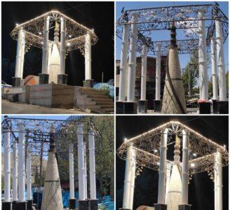 نصب المان (نماد دانش) در شهر رودهن